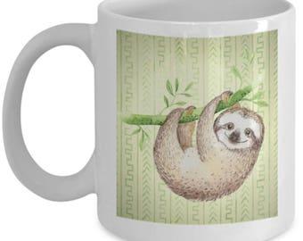 Happy Sloth Hanging Around Gift Mug