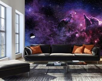 Photo Wallpaper Wall Murals Non Woven Space Galaxy Stars Modern Art Wall  Decals Girls Boys Bedroom