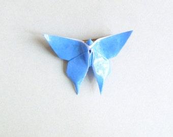 Sky blue Butterfly Origami Brooch