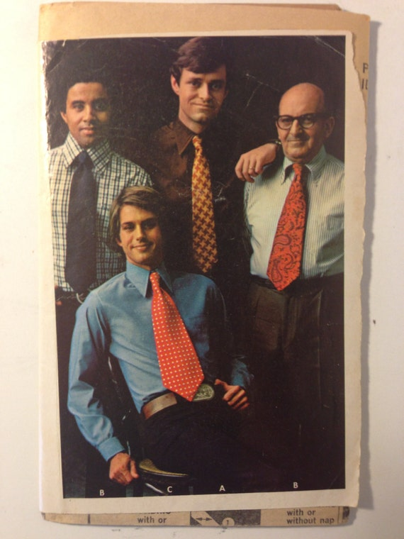 "Butterick Sewing Pattern 6351 80s Men's Ties Size 3 1/2""- 5""  Uncut"