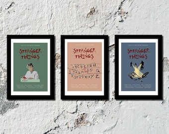 SET OF 3 Stranger Things high quality film prints (A5, A4, A3)