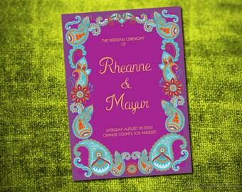 Mehndi Ceremony Cards : Mehndi ceremony etsy