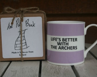 Life's Better With The Archers Fine Bone China Mug