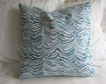 Serengeti Seaside blues decorative Pillow Cover 18x18 20x20 22x22 24x24 26x26