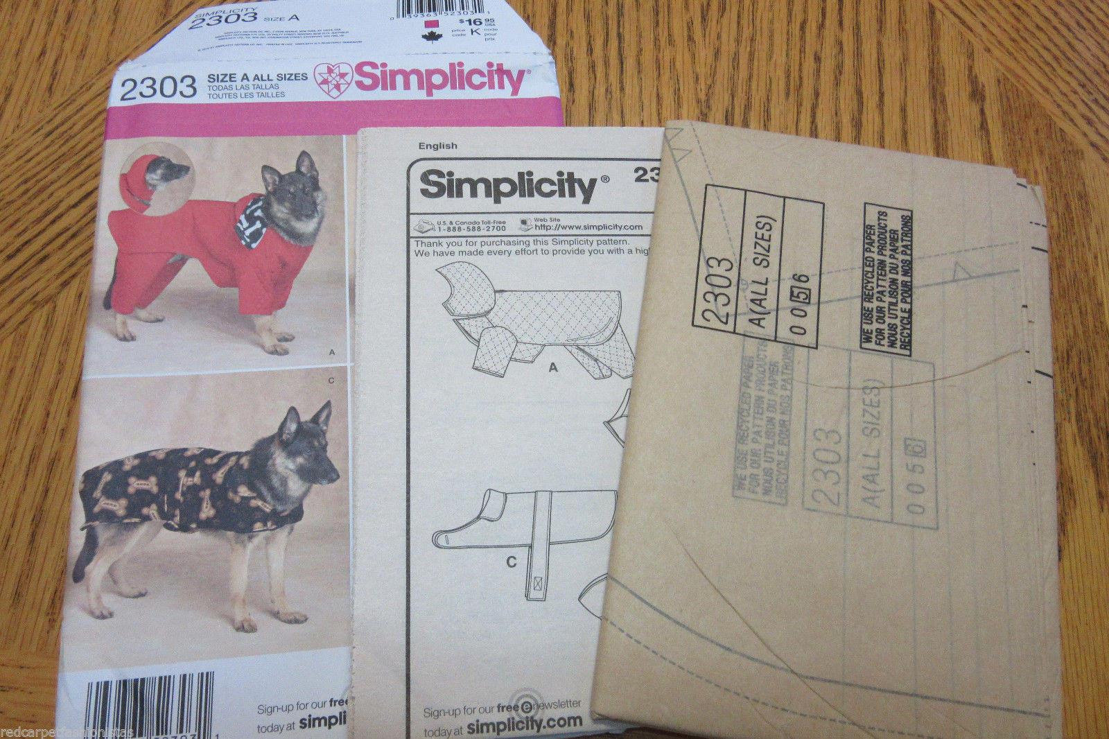 Simplicity 2303 dog coats pattern extra large dogs sew it diy get shipping estimate jeuxipadfo Gallery