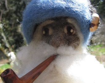 Reserved- Wantu the Wooly Wizard- Needlefelted Wool Wizard