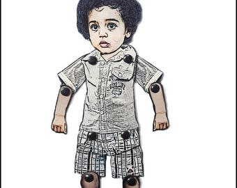 Custom Made Kid Doll Portrait- Personalized From Your Photos