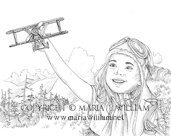 Take Off - coloring page