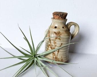 Vintage stoneware potpourri jar
