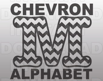 Chevron Font SVG,Chevron Letter SVG set,Monogram SVG-Cutting Template-Vector Clip Art for Commercial & Personal Use-Cricut,Cameo,Silhouette