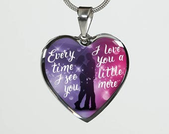 Every time I see you, I love you a little more luxury pendant necklace