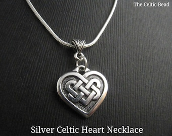 Big celtic heart pendant aluminum large heart necklace beautiful silver celtic heart necklace aloadofball Images