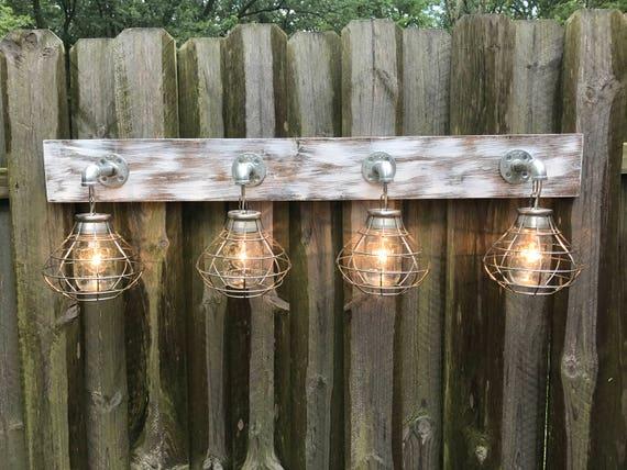 Rustic Industrial Modern Mason Jar Light Fixture Porch By: Vanity Light Fixture Mason Jar Light Fixture With Shade Wall