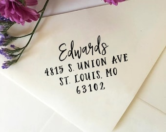 Address Stamp, Custom Return Address Stamp, Self-Inking Stamp, Wooden Stamp, Rubber Stamp, Personalized Address Stamp, Housewarming Gift