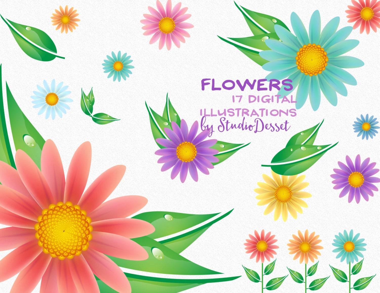 Flower cliparts daisy flower floral clip art daisy clipart zoom izmirmasajfo
