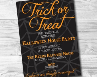 Printable Halloween Party Invitation -  Halloween Invitation - Customizable for any type of party