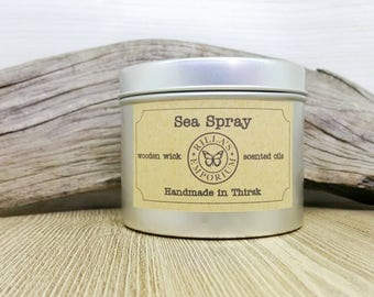 Sea Spray - Wooden Wick Travel Candle