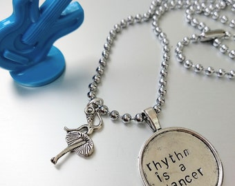 Bastille, rhytm is a dancer, of the night lyrics, necklace hand stamped with dancer charm