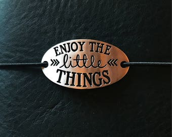 Fauxdori charm - tn charm - metal tag - inspirational charm - enjoy the little things - tn supplies - traveler's notebook - TN accessories