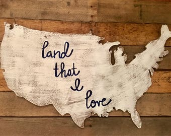 Rustic Wood United States Sign (Customizable)