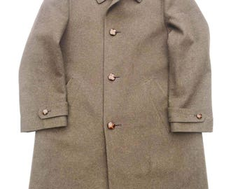 """Vintage 1960's Green Wool Coat 38""""-40"""" Chest"""