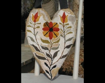 Tulip Heart - needle punch pattern from Notforgotten Farm