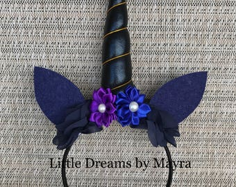Nightmare moon inspired headband, Unicorn birthday party headband inspired fit any size