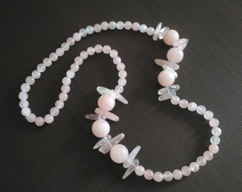 SUPER PRICE! Necklace rose quartz Natural stone Russian necklace Free shipping