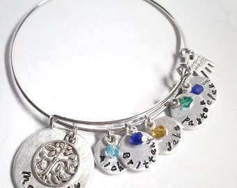 Mother's Day Gift - Mother's Day Jewelry - Mother's Day Gifts for Grandma - Personalized Charm Bracelet - Birthstone Jewelry