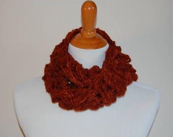 Loose Puff Cowl Crochet Pattern