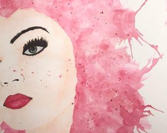 Original watercolor painting 11 x 14 custom ADMIRATION 140 lbs watercolor paper