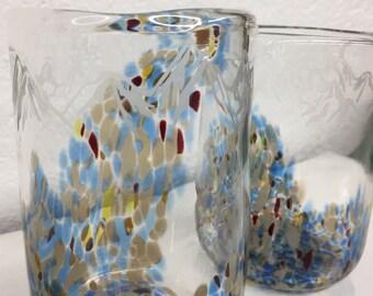 Custom made: mountain handblown glasses