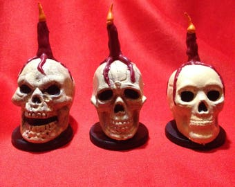 Ceremonial Skull Faux Candle Miniatures