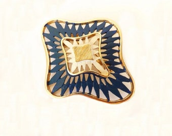Vintage Designer Signed Brooch,  Traditions Brooch, Traditions Jewelry, Costume Jewelry, Blue Brooch, Jewelry Accessories