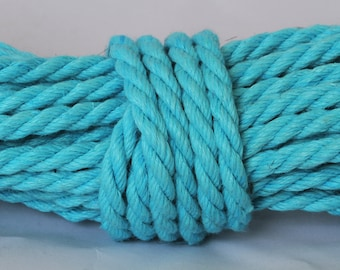 Easter Egg Blue Hemp Bondage Rope Shibari Rope