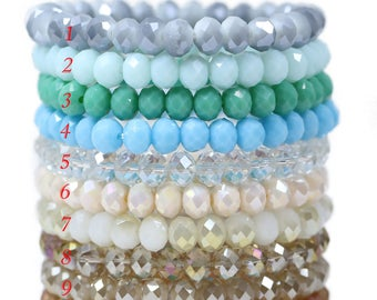 Lovely Bead Handmade Stretchy 8x6mm Crystal Bracelets (7.5 inches)