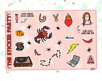 SCORPIO'S Favorite Things   Zodiac Scorpio Planner Stickers