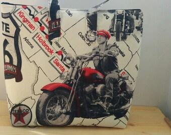 Tote bag, patriotic tote, motorcycle tote, canvas tote, beach bag, fabric tote bag, rider tote bag, american bag, motorcycle print, tote bag