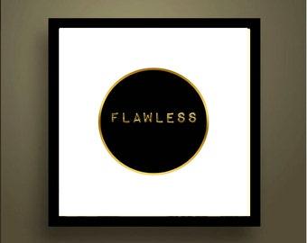 FLAWLESS Gold Digital Print - Beyonce Art
