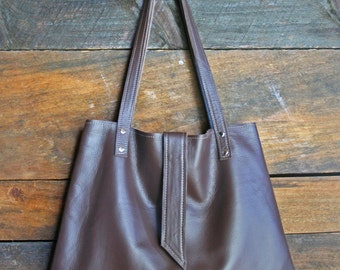 Brown Leather Hobo, leather handbag, brown women's tote, brown leather purse