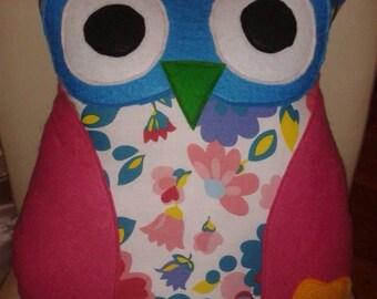 Cute Novelty Owl Cushion / Throw Pillow - Large