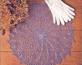 Doily Crochet Pattern, QUICK Cluster Flowers Doily Pattern, Summer Thread Crochet Pattern, INSTANT Download Pattern in PDF (1707)