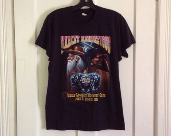 Vintage 1991 Harley Davidson Rendezvous Indian Cowboy souvenir tshirt size Medium