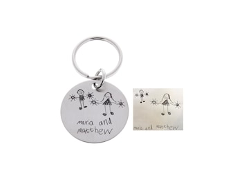 Handwriting Keychain, Father's Day, Gift For Dad, Fathers Day Gift, Signature Gifts, Gifts for Him, Gifts for Step Dad, Gifts from Kids
