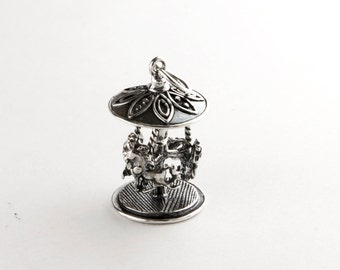 Carousel Sterling Silver Charm