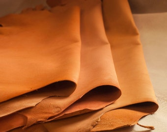 Orange Goat Craft Leather - Vegetable Tanned & Aniline Dyed