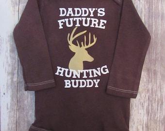 Daddy's Future Hunting Buddy Onesie Bodysuit