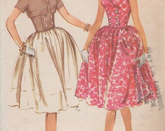 Bust 36-1960's Misses' Dress and Jacket McCall's 5417 Size 16