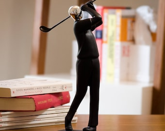 Golf Man - Hand-crafted Home Office Decor Sculptures As Artistic Inspirational Gifts