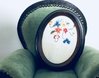 Framed Stitched Flowers